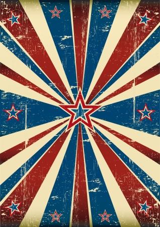 Drapeau sale sur le thème américain Vecteurs