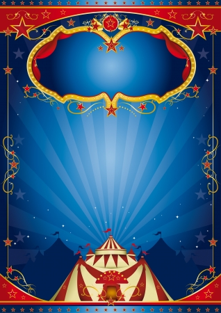 cabaret stage: azul cartel de circo