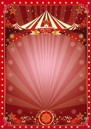 circus stage:  A circus poster on the christmas theme    Enjoy