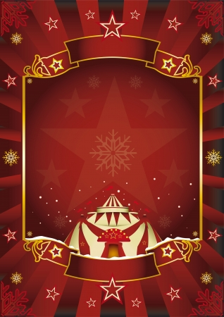 cabaret stage: A circus background on christmas theme for you  Enjoy