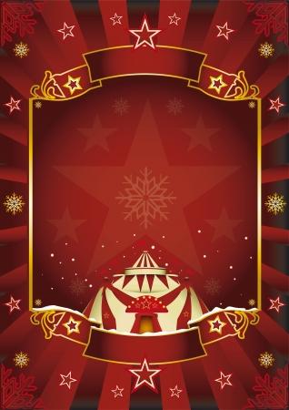 cabaret stage: Un fondo de circo en el tema de la Navidad para usted Disfrute Vectores