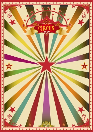 A wonderful circus poster for a big party   Vector