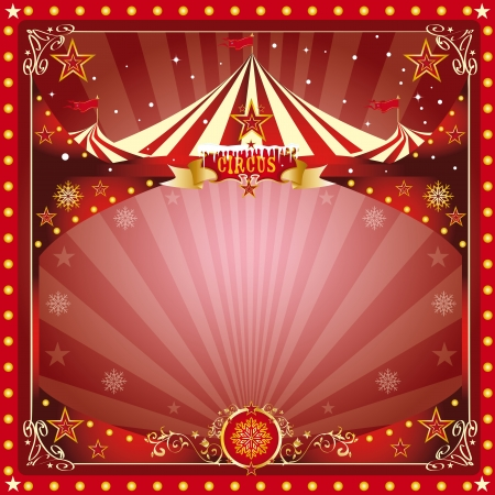 carnival background: A circus christmas or Happy new year s card for you Illustration