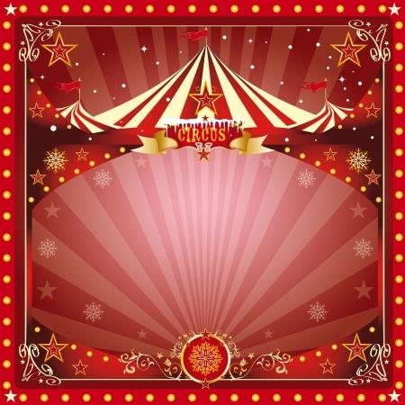 kerst markt: Een circus kerst of Happy new year s kaart voor u