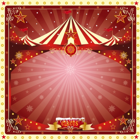 fondo de circo: Una navidad circo o Happy new year card s para ti Vectores