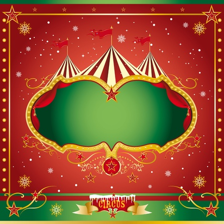 xmas card: A circus christmas or Happy new year s card for you Illustration