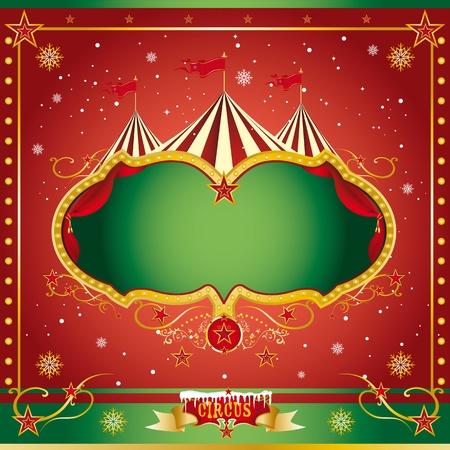kerst markt: Een circus Kerstmis of Happy new year s kaart voor u Stock Illustratie