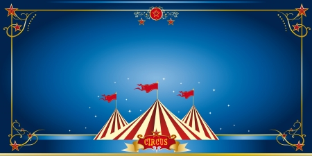 An invitation card for your circus company Vector