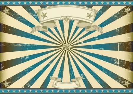 A vintage horizontal poster with a blue sunbeam for you.  Perfect size for a screen. Vector