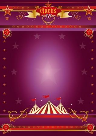 cabaret stage: Un cartel de circo morado para su show