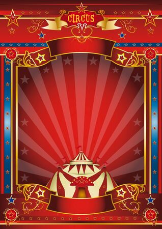 fondo de circo: un cartel de circo maravilloso para tu entretenimiento Foto de archivo