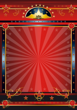 a circus vintage poster with sunbeams for your advertising Stock Photo - 17313110