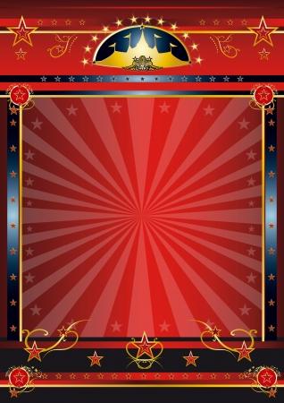 fondo de circo: un cartel de circo de �poca con rayos de sol para su publicidad