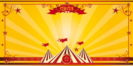placards: An invitation card for your circus company Illustration