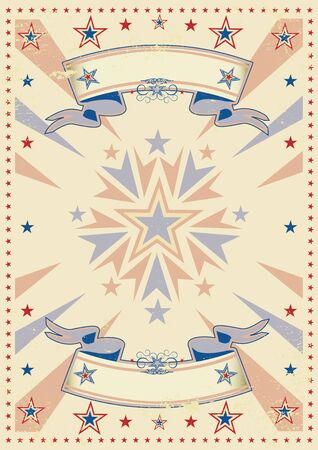 A vintage background for a poster Vector