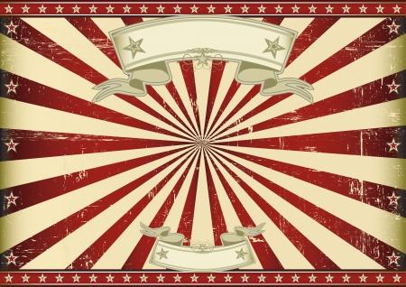 fondo de circo: Un cartel de la vendimia con un rayo de sol horizontal azul para usted tama�o perfecto para una pantalla