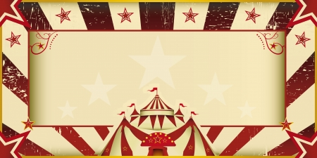 circus background: An invitation card for your circus company