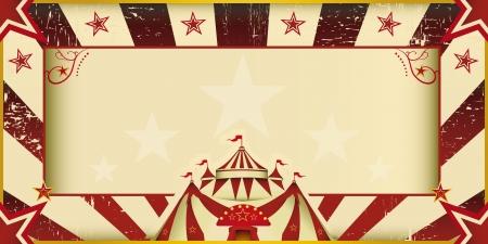 cabaret: Une carte d'invitation pour votre compagnie de cirque Illustration