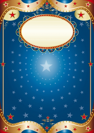 A blue poster for your party  Vector