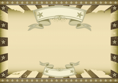Horizontal brown vintage sunbeams Vector