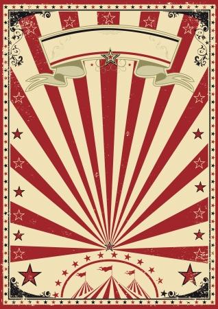 circense: Circo rojo vendimia Vectores