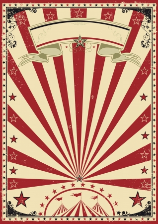 entertainment tent: Circus red vintage Illustration