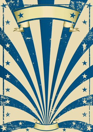 A vintage blue poster for your show Stock Vector - 17666864