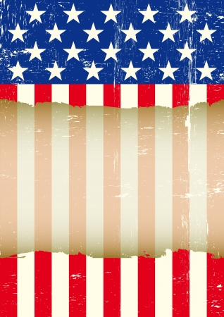 A dirty american flag with a large transparent frame for your message Stock Vector - 17667097
