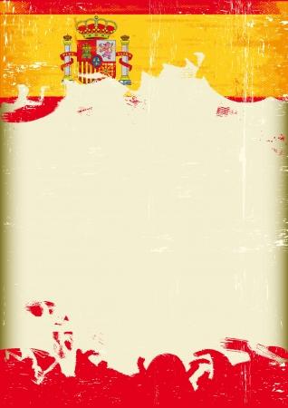 publicity: Un cartel con un gran marco rayado y una bandera del grunge de Espa�a para su publicidad