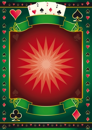 ace of diamonds: A background for your Poker Tour. Write your message on the copy space.