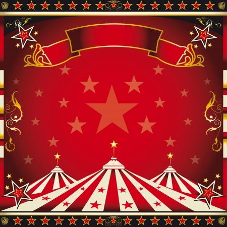 circense: Un circo cuadrado folleto para el anuncio de su show