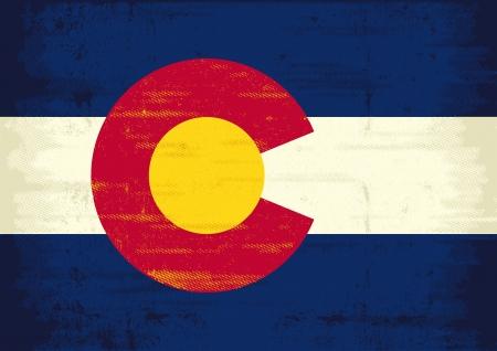 Денвер: Флаг Колорадо с текстурой для вас Наслаждайтесь