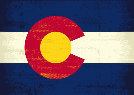 us grunge flag: The flag of Colorado with a texture for you  Enjoy   Illustration