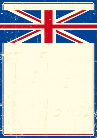 grunge union jack:  write your message on this poster
