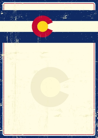 write your message on this Colorado grunge poster Vector