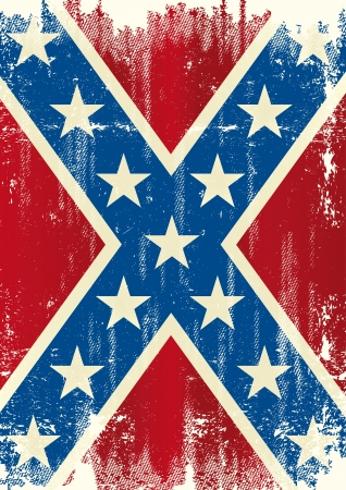 civil war: A confederate flag for a poster Illustration