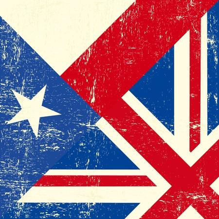 grunge union jack: UK and Texas grunge flag