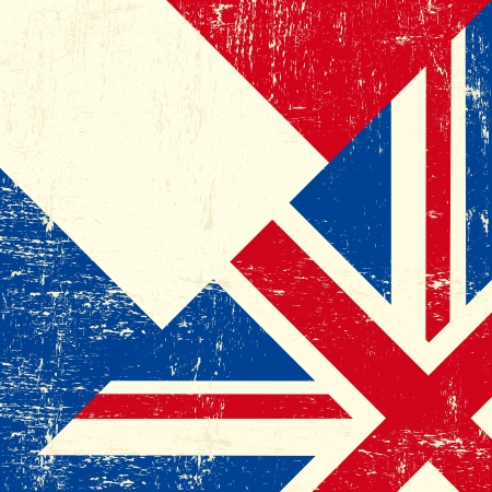 UK and French grunge flag Vector