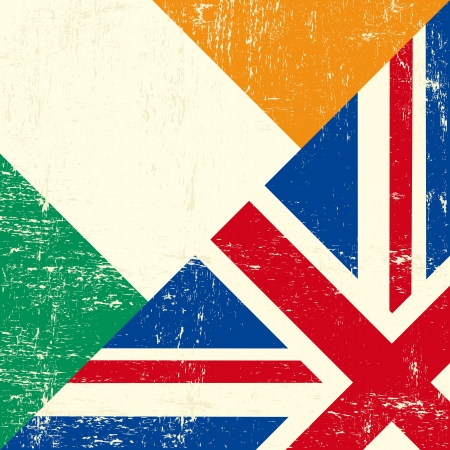 tour operator: A square mixed irish and british grunge flag for you