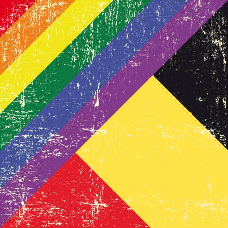 Mixed grunge gay flag with belgian flag  Vector