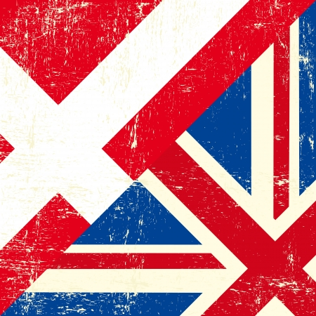grunge union jack: this flag represents the relationship between UK and the Denmark