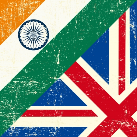 this flag represents the relationship between UK union and India Vector