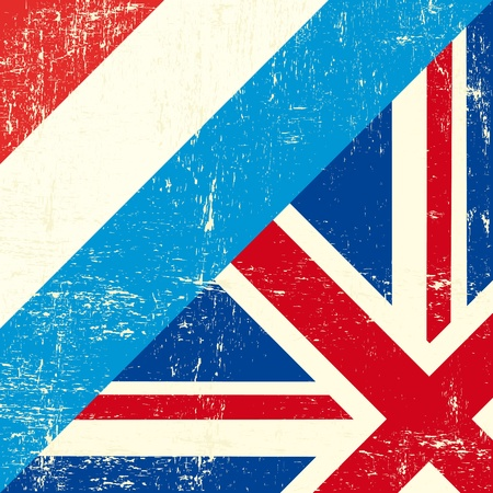 this flag represents the relationship  between UK and luxembourg Vector