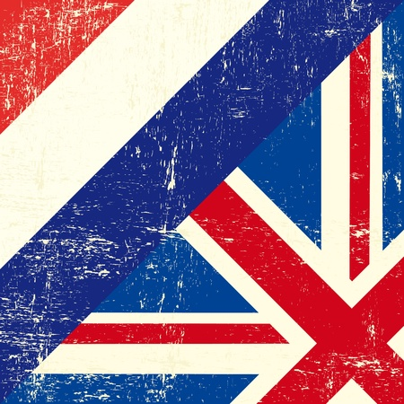 union jack: this flag represents the relationship  between UK and the Netherlands Illustration