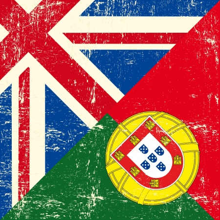 england politics:  this flag represents the relationship  between England and Portugal Illustration