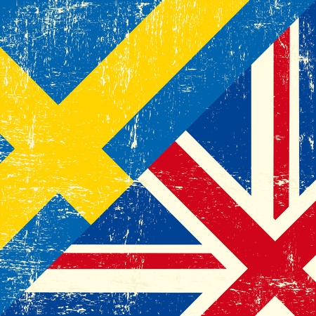 this flag represents the relationship  between UK and Sweden Vector