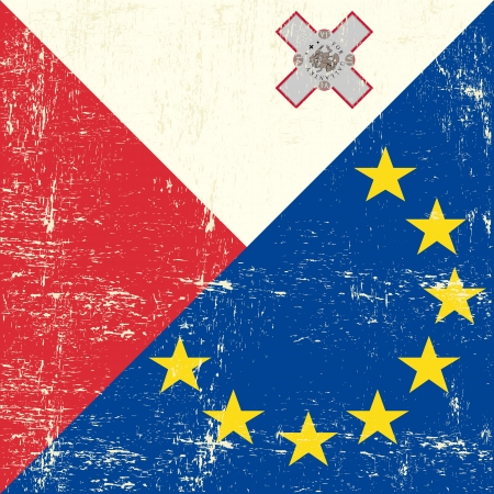 malted: Mixed Malted and european grunge Flag