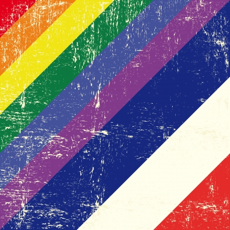 Mixed grunge gay flag with netherlands flag  Vector