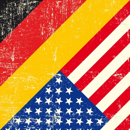 american flag background: this flag represents the relationship  between Germany and the USA Illustration