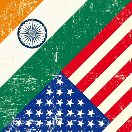 this flag represents the relationship  between India and the USA Vector